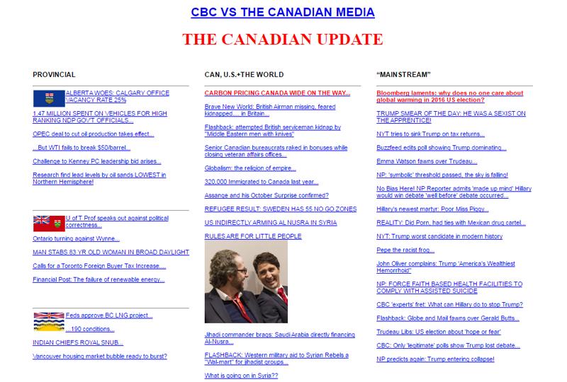 The Canadian Update Screenshot