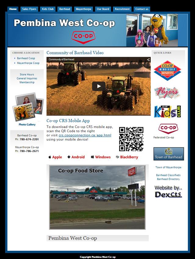 coop website screenshot