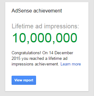 10 million adsense impressions