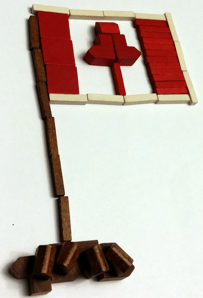 Canadian Flag created with Settlers of Catan