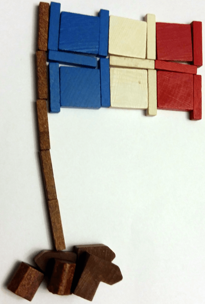 France Flag with Settlers of Catan