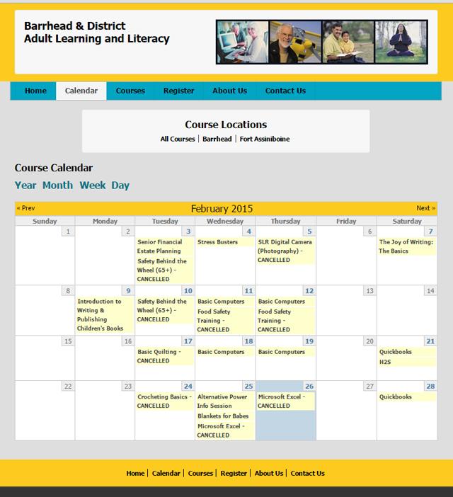 learning website screenshot