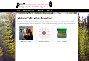 Firearms Instructor and Gun Shop Website screenshot