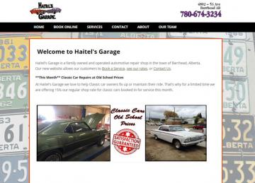 Garage Website Screenshot