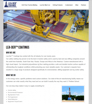 Oilfield Web Design Sample